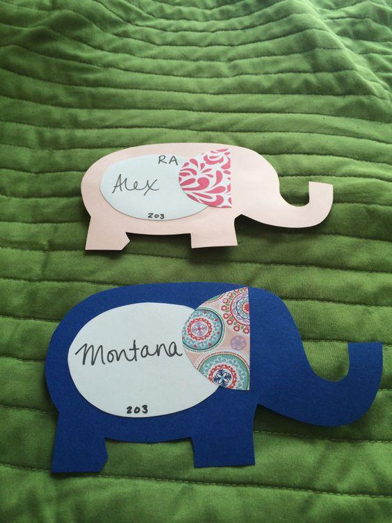 elephant door decs from theresidentassistant.wordpress.com
