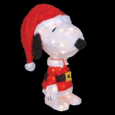 18 In Led 3d Pre Lit Snoopy In Santa Suit Snoopy Christmas Decorations Christmas Yard Decorations Christmas Decorations Wholesale