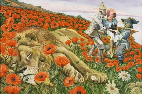Charles Santore - Poppy Field - 1991