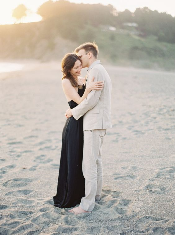 A Beach Engagement. by Heidrich Photography