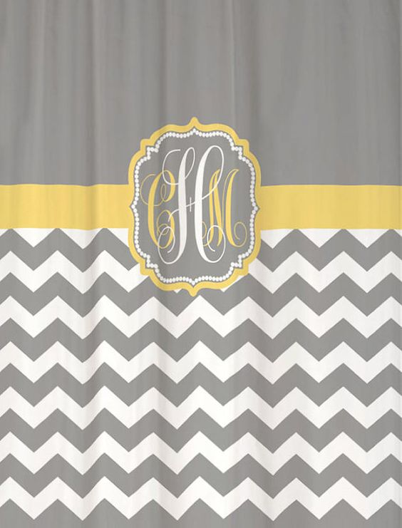 Shower Curtain Chevron YOU CHOOSE COLORS 70, 74, 78, 84, 88 or 96 ...