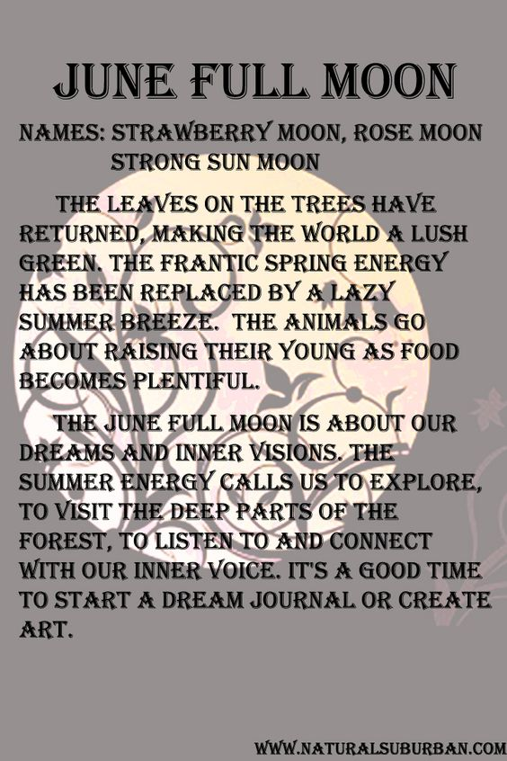 Moon: The June Full Moon is all about our dream world and our creativity.