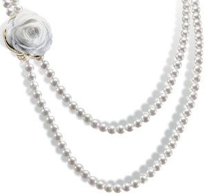 La Rose de la Reine jewellery set in yellow gold (sautoir necklace)