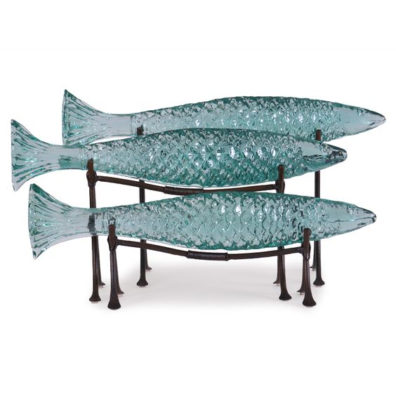Small, Medium & Large Barracuda on Metal Stands, each sold separately.  #islandwayliving