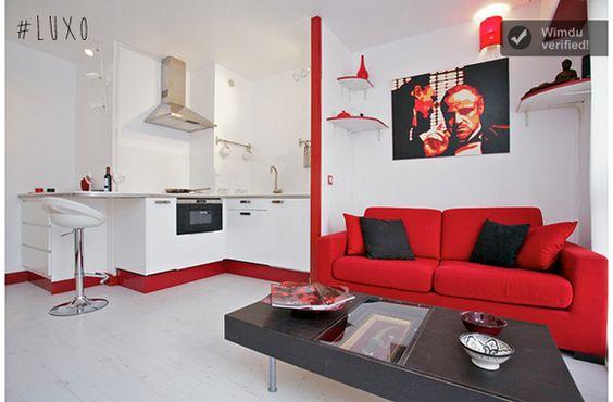 Decoracao De Sala Vermelho E Preto ~  Vermelho, Branco e Preto  Sala Pequena  Decoração  Sala