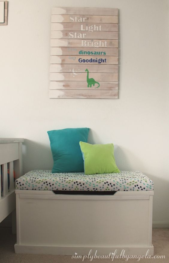 Add this cute DIY Nursery art to your dinosaur themed bedroom for a fun look!