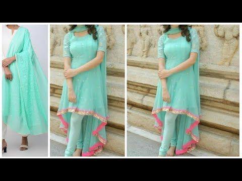 Diy Convert Old Duppatta Fabric Saree Into High Low Kurti Hindi Youtube Long Kurti Designs Blouse Pattern Sewing Sewing Dresses