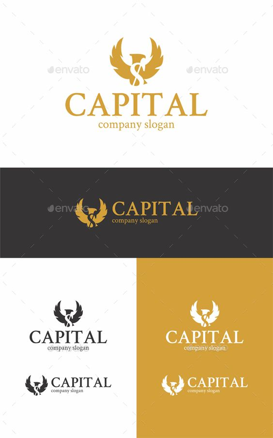 Capital Eagle Logo Logo Templates Logo Design Template Symbol Logo