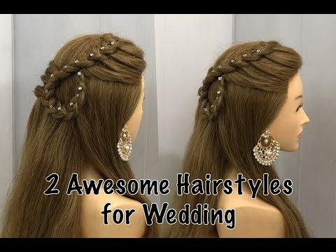 Beautiful Open Hairstyle For Wedding Or Party Easy Hairstyles Youtube Hair Styles Wedding Hairstyles Videos Simple Wedding Hairstyles