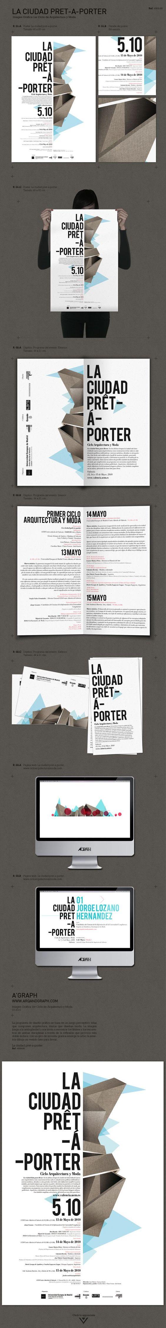 La ciudad prêt-á-porter by Estudio AGraph , via Behance