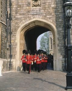 Henry VIII Gate ~ The gate was reconstructed during the King's reign. Today it is one of the main entrances to Windsor Castle.