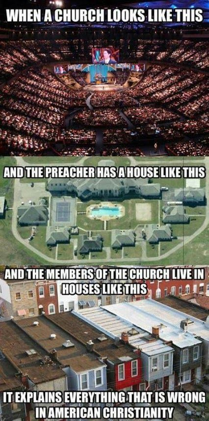 When a church looks like this and the preacher has a house like this and the members of the church live in houses like this, it explains everything that is wrong in American Christianity.