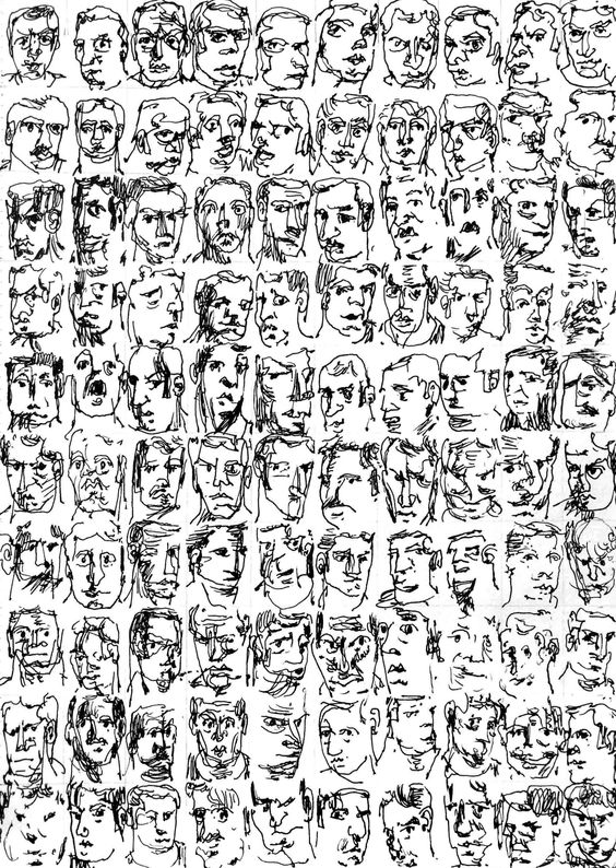 100 Self-Portraits an Hour (and 36 minutes) - www.polypcyst.com