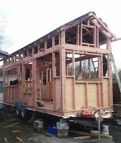 Shaye and Tom Wilsons (NZ) tiny house based on Humble Homes' Tiny House Plans
