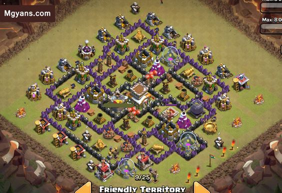 clash of clans war base low th8