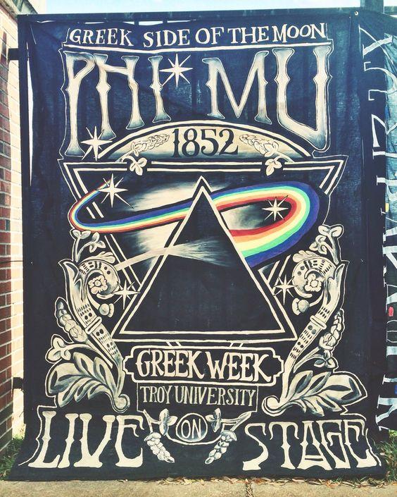 Troy University Greek Week 2016 - Phi Mu banner
