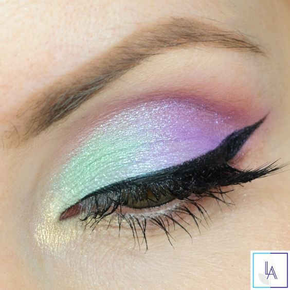 Love this unicorn look? Try RMS Inspire and NU Evolution Tease to get a shimmery blue/purple eye!: