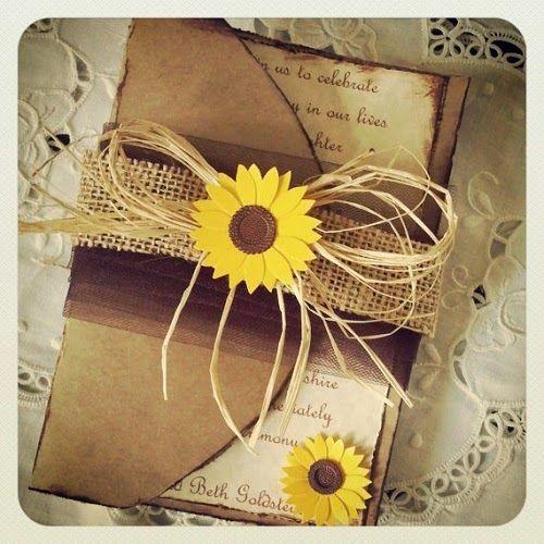 Matrimonio Country Girasole : Invitación de boda girasoles wedding sunflower