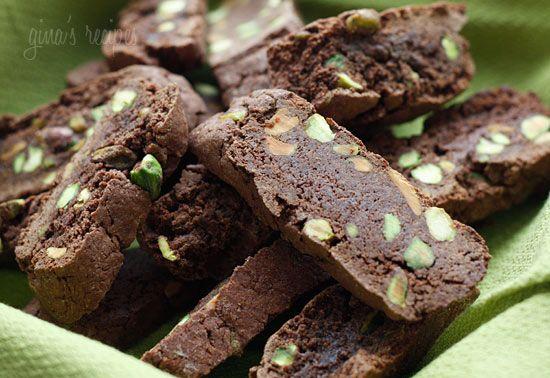 Chocolate Pistachio Biscotti | Skinnytaste: