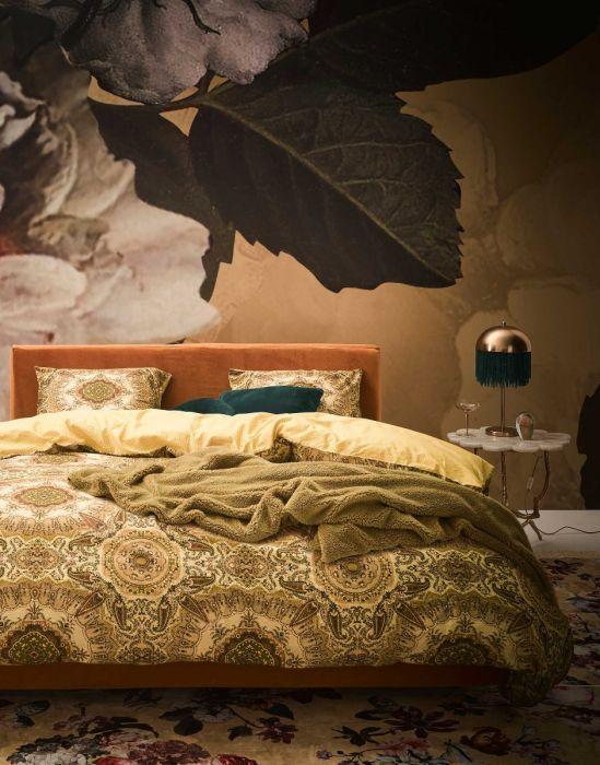 Essenza Cadiz Bettwasche Golden Yellow Bettwasche Bettbezug Schlafzimmer Blumen Floral Bedroom Es Bettwasche Schlafzimmer Inneneinrichtung Wohnen