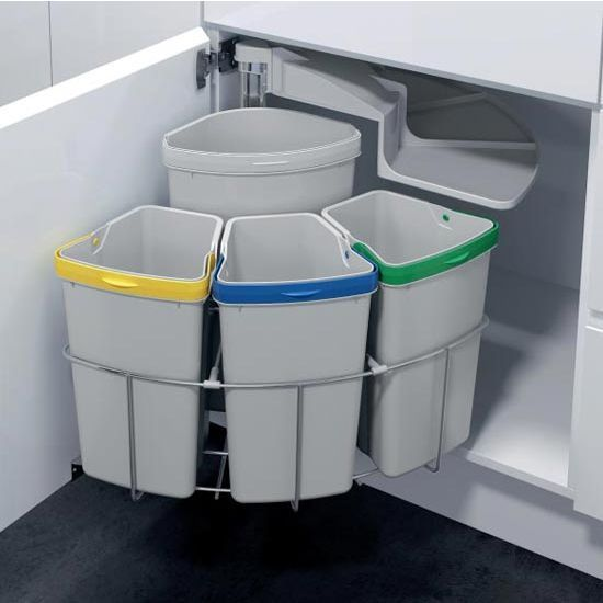 You Can Separate Your Recyclables Right Away In Kitchen Simply Open Cabinets Or Drawers And Toss Ss As Work The Bins Are Eas
