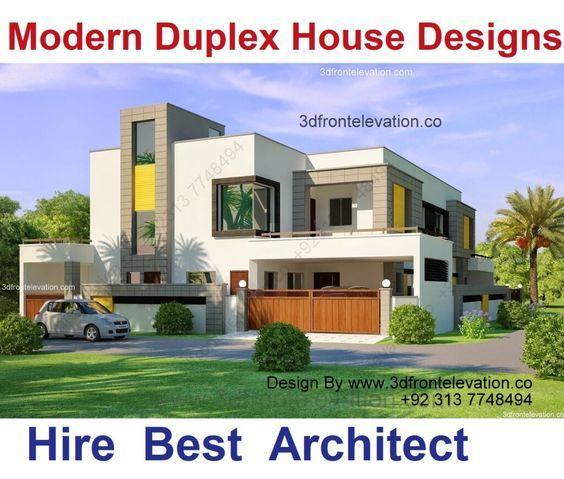 تصميم فيلا سكنية مودرن One Of Our Best Arabic Modern Designs 750m للجمال العربي لغة اخر Duplex House Design Duplex Design Duplex House
