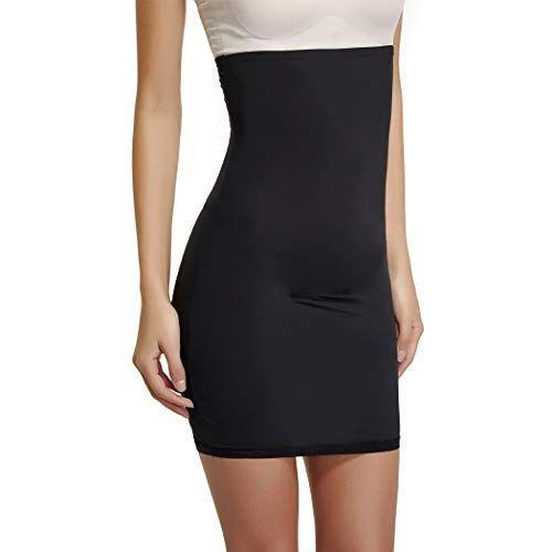 High Waist Half Slips for Women Under Dresses Shapewear Tummy Control Slip Dress Seamless Body Shaper Slimming Skirt