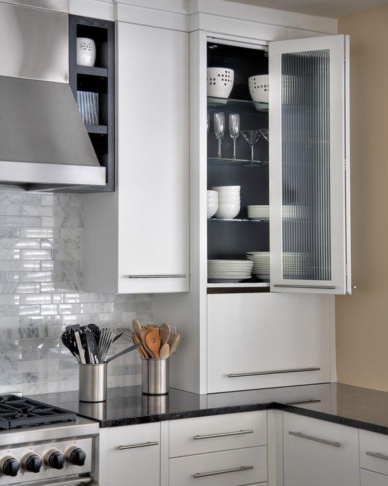 bifold-cabinet-doors-Kitchen-Contemporary-with-appliance-garage-Bi ...