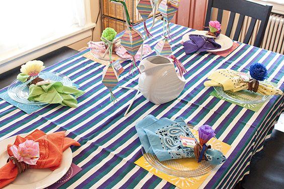Una mesa muy festiva, para una fiesta Cinco de Mayo