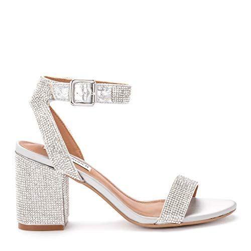JZNX Womens Professional Rhinestone Ballroom Dance Shoes Latin Salsa Performance Dance Shoes Wedding Dancing Shoes