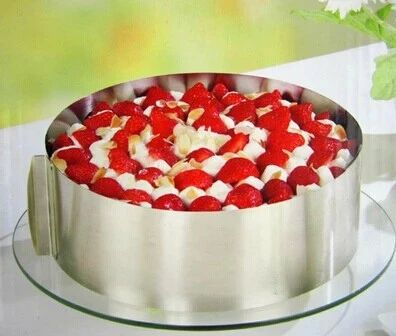 不锈钢圆形慕斯圈 蛋糕隔 蛋糕模具6寸-12寸可调节 伸缩-淘宝网