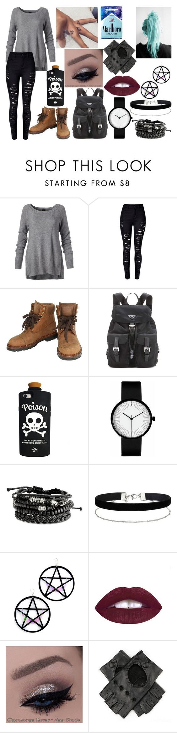 """""""1 Red Roses"""" by nikkyvanderoer ❤ liked on Polyvore featuring WithChic, Chanel, Prada, Miss Selfridge, Marina Fini and Black"""