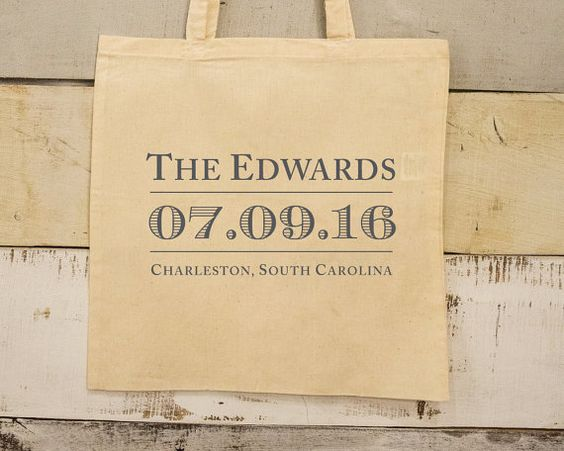 Welcome Bags Party Favor Bags Personalized Tote Bags Wedding Tote Bags Wedding Favors Custom Cotton Totes Monogrammed Bags 1613 by SipHipHooray