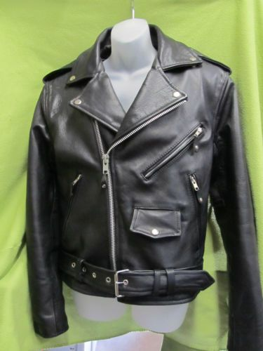 Wilson Leather Biker Jacket w Thinsulate Heavy Leather Motorcycle