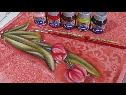 Como Pintar Tulipas Pintura Em Toalhas Coloridas Da Marca