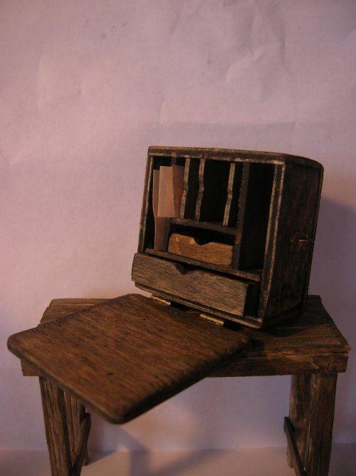 An Officers field desk Civil War dollhouse by jujurodgers ...