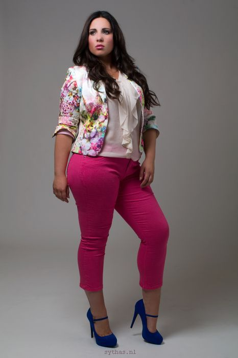 Blues shoes and nice pink jeans plus size | Plus Size Fashion ...