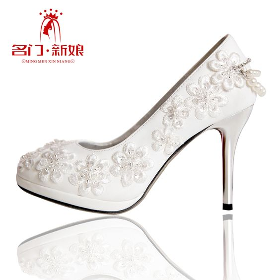 Urged bride wedding shoes new arrival 2013 handmade beaded wedding shoes white wedding shoes bridal shoes 089