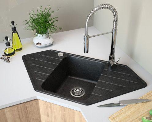 31 Granite Composite Drop In Single Bowl Kitchen Sink With Drainboard Luxor 100lt Lavello Sinks Single Bowl Kitchen Sink Kitchen Sink Sink Design
