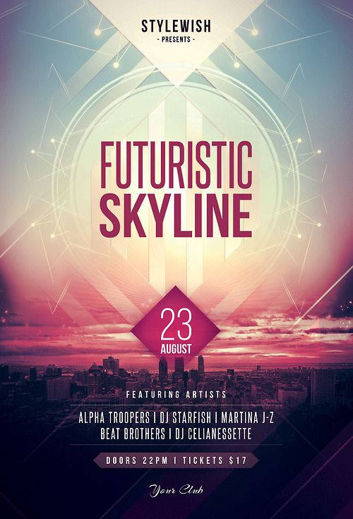 Futuristic Skyline Flyer by styleWish