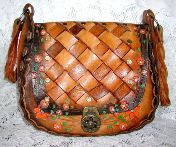 Beautiful Hand Tooled Leather Vintage HippiePurse