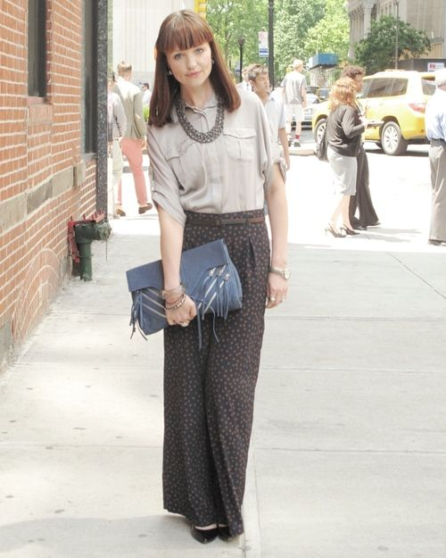 I love these high waisted pants!