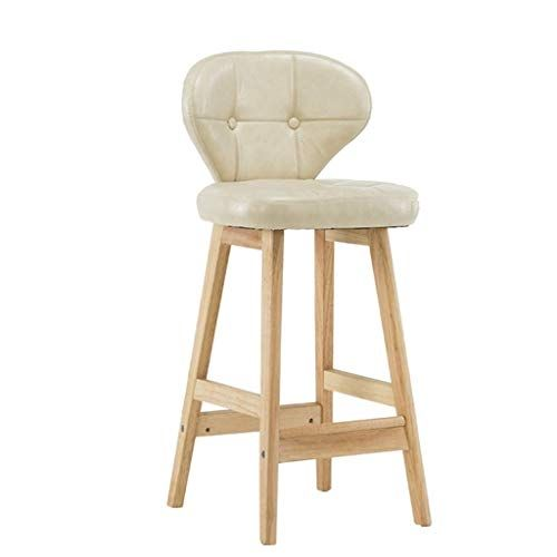 Wnjbd Nordic Solid Wood Chair Bar Stool Counter Kitchen High Stool