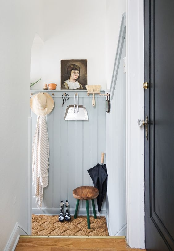Cute Eclectic Mudroom
