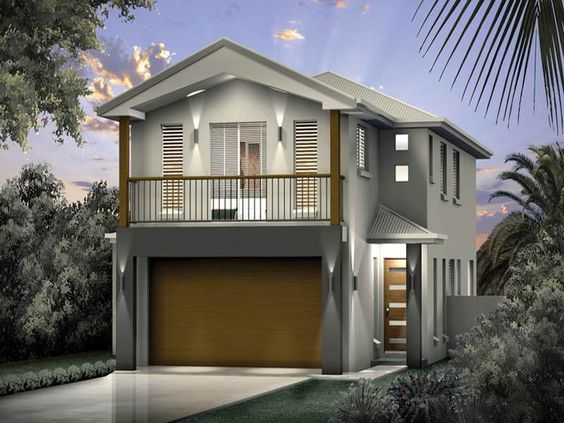 Best design narrow lot beach house plans architecture for Narrow beach house