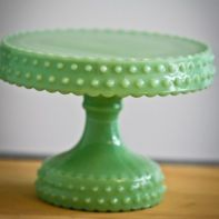 vintage green cake stand