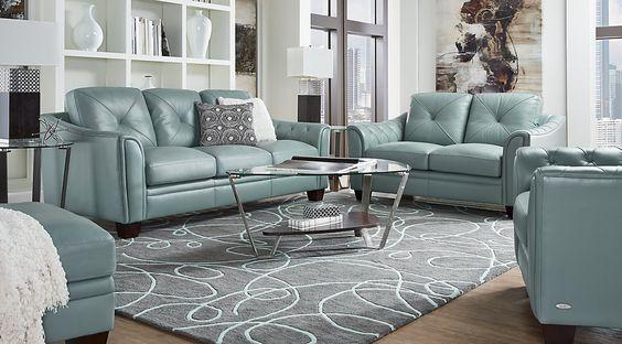 breathtaking black white living room furniture | Affordable Leather Living Room Sets in modern ...
