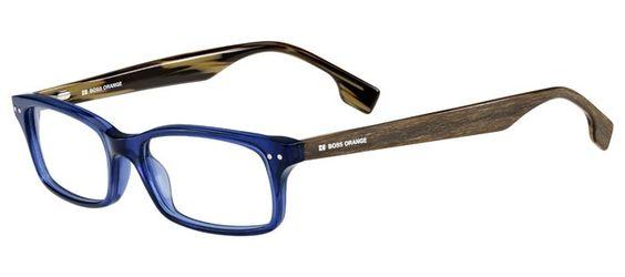 Lunettes de vue - Pas cher - BOSS-ORANGE BO-0035 Bleu 0RG