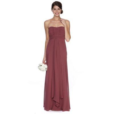 Debut Dark pink ruched bodice maxi dress- at Debenhams.ie ...