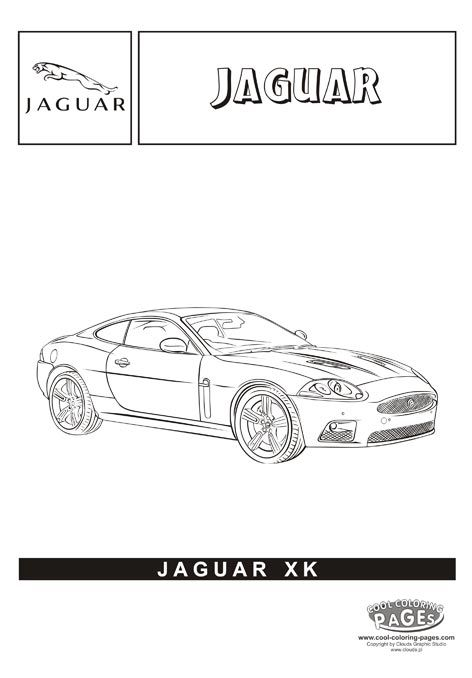 Jaguar Car Coloring Page jaguar xk - cars coloring pages cars coloring ... Jaguar Car Coloring Pages